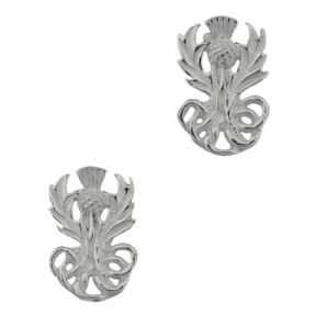 Scottish Thistle Silver Stud Earrings 0132